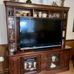 PRICE REDUCED!! Beautiful Wood Entertainment Center