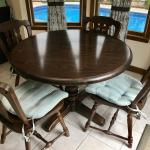 Ethan Allen Old Tavern Pine Dining Table and Chairs