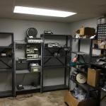 Lot 62 - Five Metal Shelves