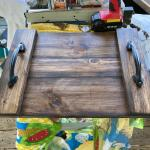 Rustic wood tray