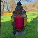 Large lantern with a luminari candle ! 973-600-3177