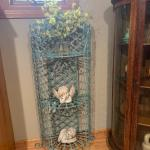 Vintage wrought iron planter /shelf ! 973-600-3177