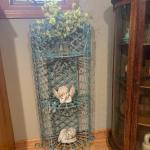 Vintage wrought iron planter /shelf ! 973-600-3177
