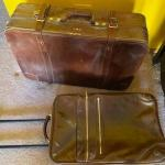 2 pieces or leather luggage