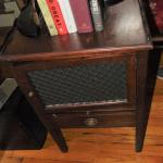 Antique Phonograph Mahogany Table