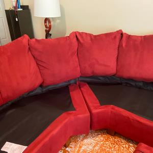 Photo of Red sectional