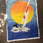 Vintage 1979 printed cloth poster