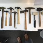 Lot of hammers, mallets and picks
