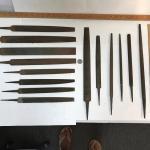 14 Wood Metal File Rasp Flat Rat Tail Variety Vintage No Handles