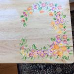 4 hand painted TV tray tables