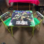 Teenage Mutant Ninja Turtle Table & Chairs