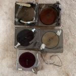 Lot 118 - Five Turntables Including a Reproducer Recorder