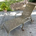 Lot 191   Outdoor Chaise Lounge Adjustable Back Wheels