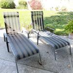 Lot 192  Pair of Outdoor Chaise Lounges