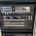 Lot 207  Fisher Stereo System in Cabinet Turntable Cassette Player AMFM Synthesi