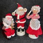 Lot 197   Mechanical Christmas Figures Santa & Mrs Claus
