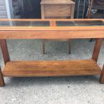 CONSOLE TABLE W/GLASS TOP