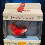 Red cardinal ornament clip on
