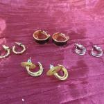Lot 43 - (4) Circular Earrings