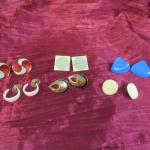 Lot 40 - (6) Vintage Earrings