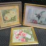Lot 284 - Set Of Floral Pictures - Artist Kathryn White