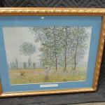 """Lot 287 - """"Fields In Spring"""" Artist Claude Monet Picture"""