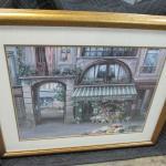 Lot 288 - Framed Flower Shop Picture