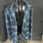 Lot 292 - Pendleton Woolen Mills USA Virgin Wool Plaid Flannel Board Shirt Size