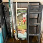 Lot 208  Metal Mesh Sports Equipment Storage Rack