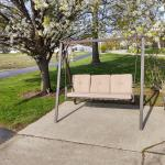 Aluminum swing with new cushions