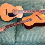 Lot 219  Vintage Acoustic Guitars Both AS IS