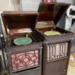 Lot 203 - Edison Floor Phonographs Models C200 and C250