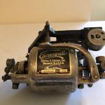 Lot 196 - 110 V Edison Motor & Edison Plate