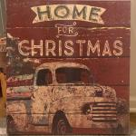 Home For Christmas Wooden Sign