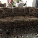 Victorian floral/fruit patterned sofa