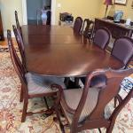 Drexel Heritage mahogany dining room set