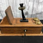 Antique Western Electric Wood Cabinet Wall Phone