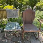 Lot 173G. Two garden chairs (one vintage)--$45