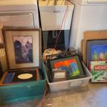 Lot 178G. Frames and games--$35