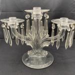 2 Vintage Fostoria 3-Lite Candelabrum In Baroque Pattern