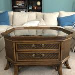 Rattan ad Wood Coffee Table