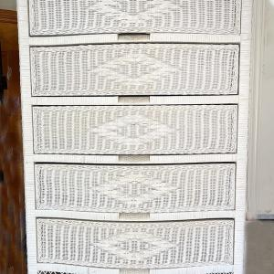 Photo of Rattan Chest and Headboard