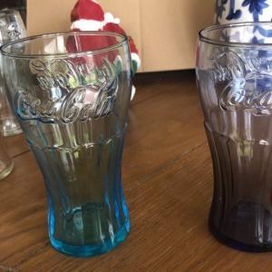 "Photo of Vintage Coca-Cola glasses 6"" height"