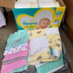 Baby clothes and toys, plus games