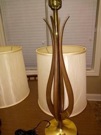 Photo 4 of Vintage 2 Mid-Century Danish Modern lamps w/shades