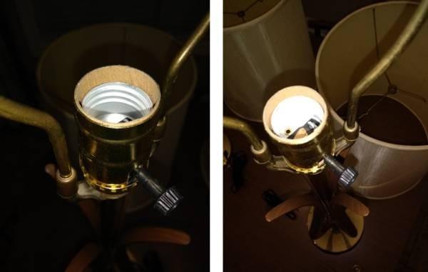 Photo 3 of Vintage 2 Mid-Century Danish Modern lamps w/shades