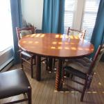 Custom Crafted Amish Dining Table And 4 Chairs Original Cost Over $4,500.00