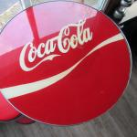 CUSTOM MADE 50s SODA SHOP STYLE COCA COLA TABLE AND STOOLS