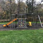 Rubber Mulch & Railroad Tie Border- Great for Swing Sets - Used