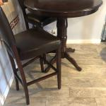 Pier 1 Dining Table and bar chairs